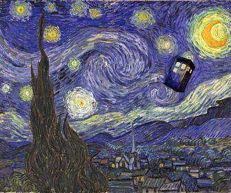 Tardis Vincent Van Gogh Doctor Who Starry Night Hd Wallpaper