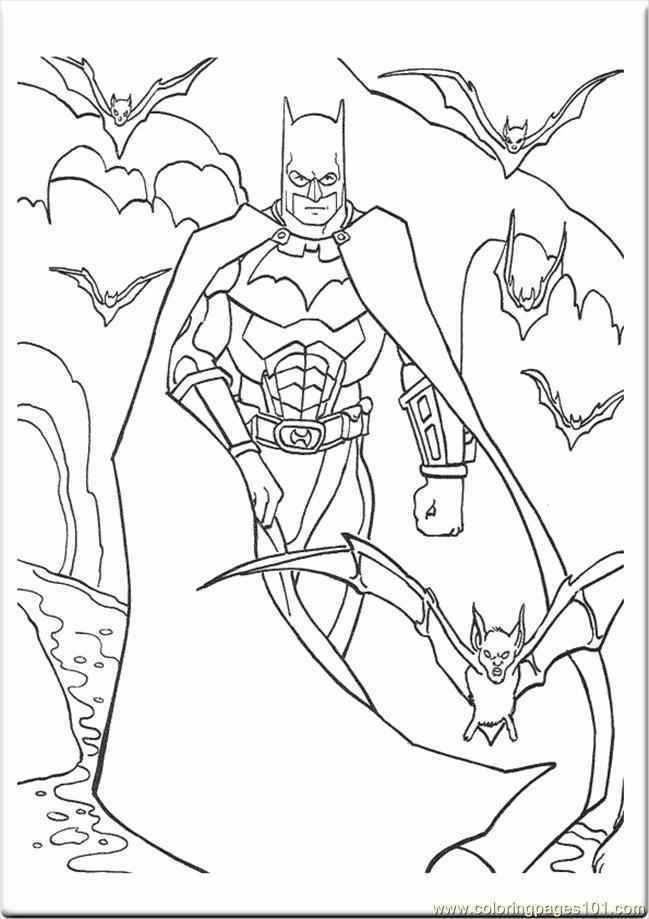 Xv454 Batman Coloring Pages Dark Knight 454