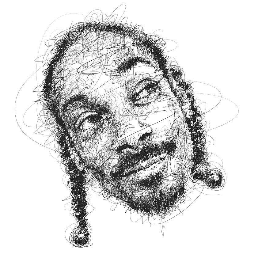 Scribble Pen Drawing : Snoopdogg snoopdoggydogg rap westcoast scribble