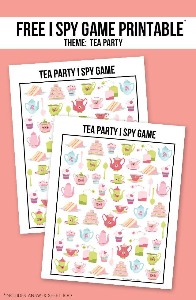 Photo of Tea Party Spiel | Druckbare I Spy