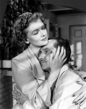 Myrna Loy, Fredric March in The Best Years of Our Lives (1946). Director: William Wyler. #williamwyler