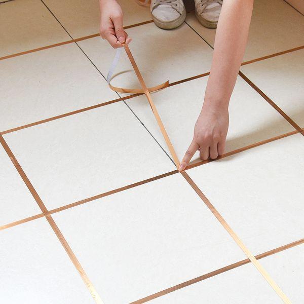 Us 4 22 35 Off 50m Gold Self Adhesive Tile Sticker Waterproof Wall Gap Sealing Tape Strip Floor In 2020 Adhesive Floor Tiles Tile Floor Self Adhesive Floor Tiles