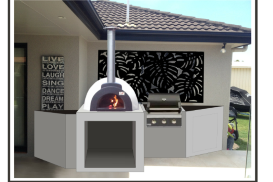 alfresco kitchens woodfired pizza ovens qld allfresco woodfired pizza oven kitchen pizza on outdoor kitchen queensland id=57969