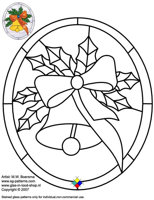 xmas stained glass window templates photos