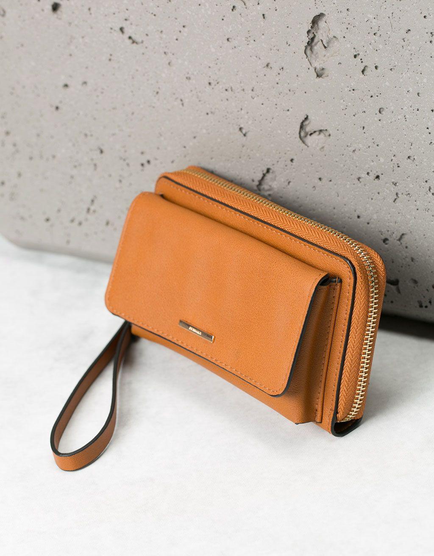 Portefeuille avec pochette pour portable - Porte-monnaie - Bershka France d6a859118b0