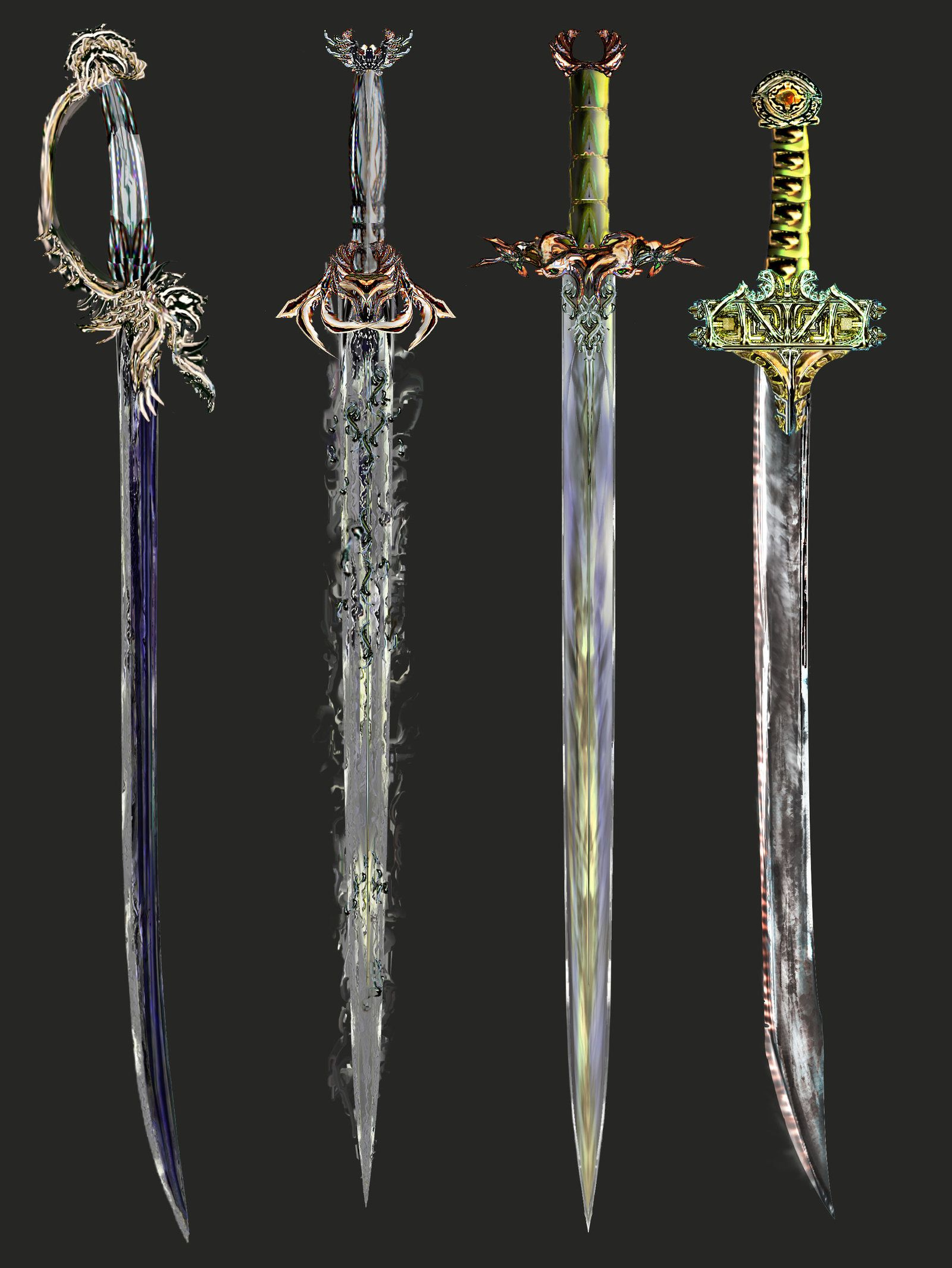Concept Art Medieval Weapons