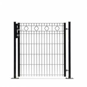 Design hekwerkpoort type Barcelona uit onze #Elegance programma: -Enkele poort 1010 mm doorgang*Hoogtes 800, 1000 en 1200 mm-Dubbele poort 3250 mm doorgang*Hoogtes 800, 1000 en 1200 mm-Kleuren mosgroen en antraciet  #www.zichtdicht.nl