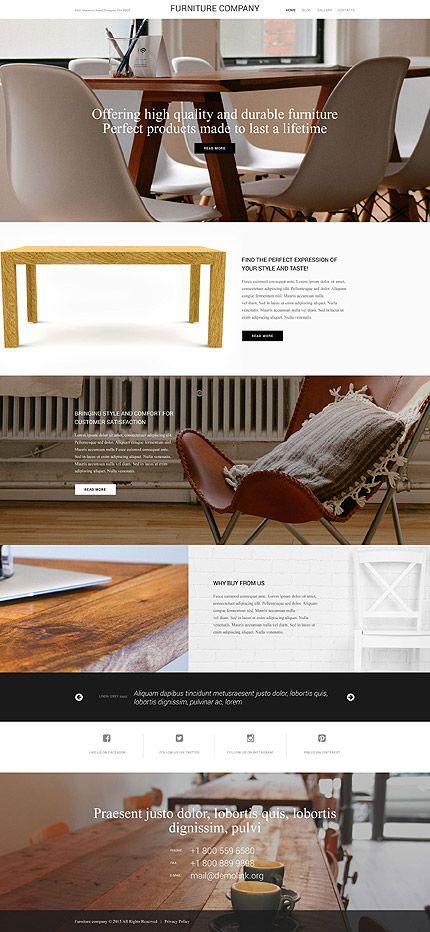 furniture websites design designer. Website Designs · Modern Furniture Company #Wordpress #template. #themes #business #responsive #Wordpressthemes Websites Design Designer T