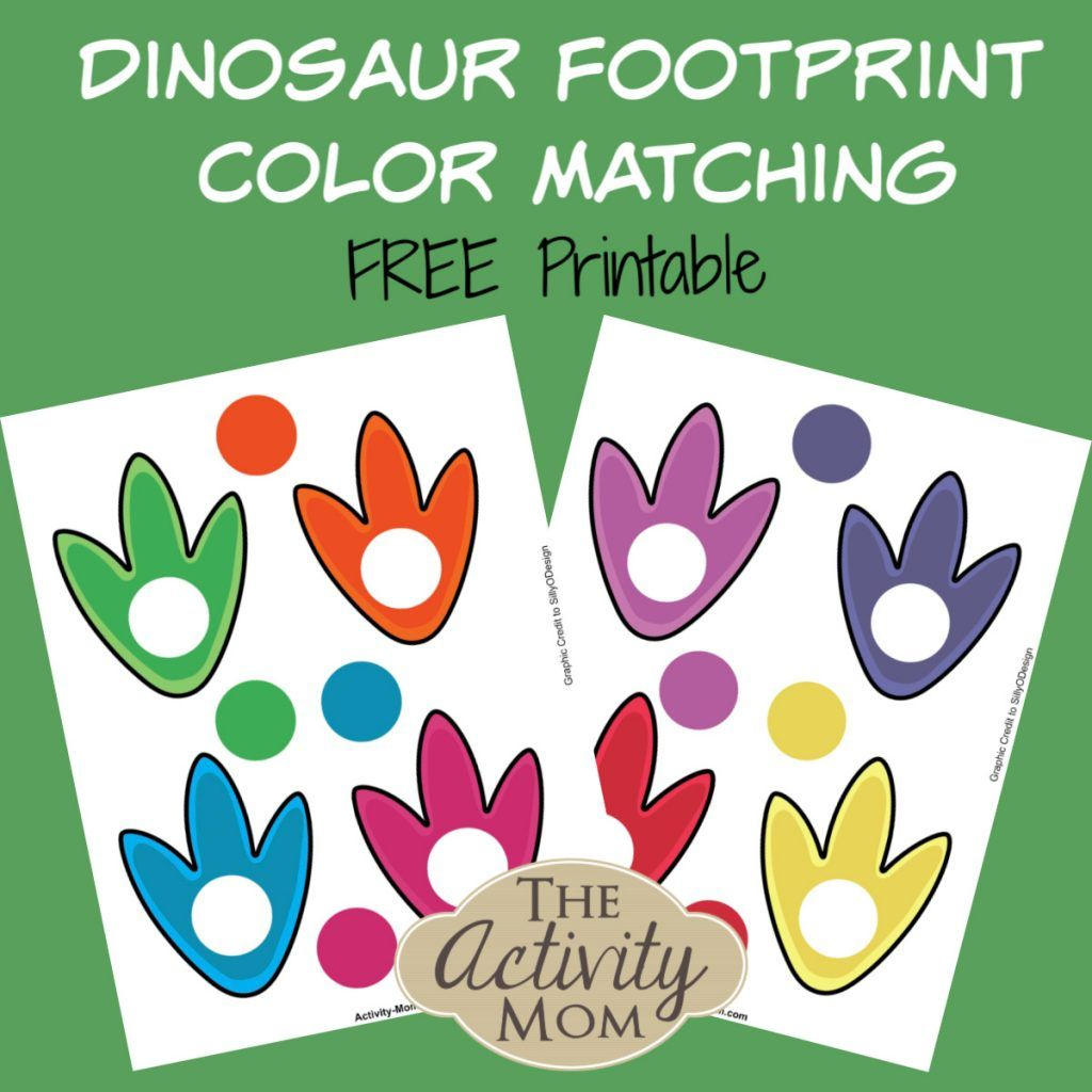 Free Printable Dinosaur Color Matching
