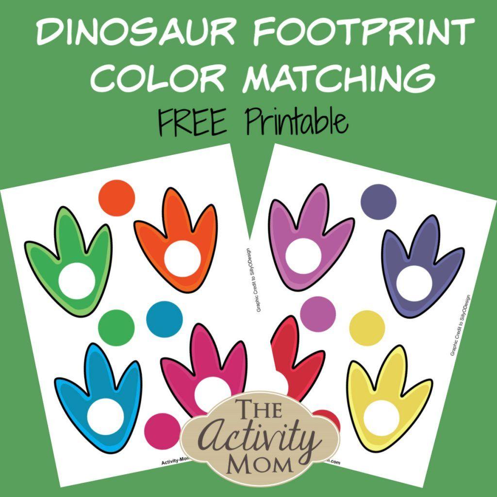 Free Printable Dinosaur Color Matching