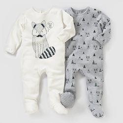 Pijama, algodão interlock (lote de 2) 0 meses-3 anos R essentiel