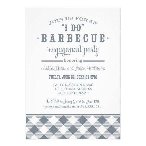 Slate Wedding Engagement Party I Do Bbq Invitation Wedding