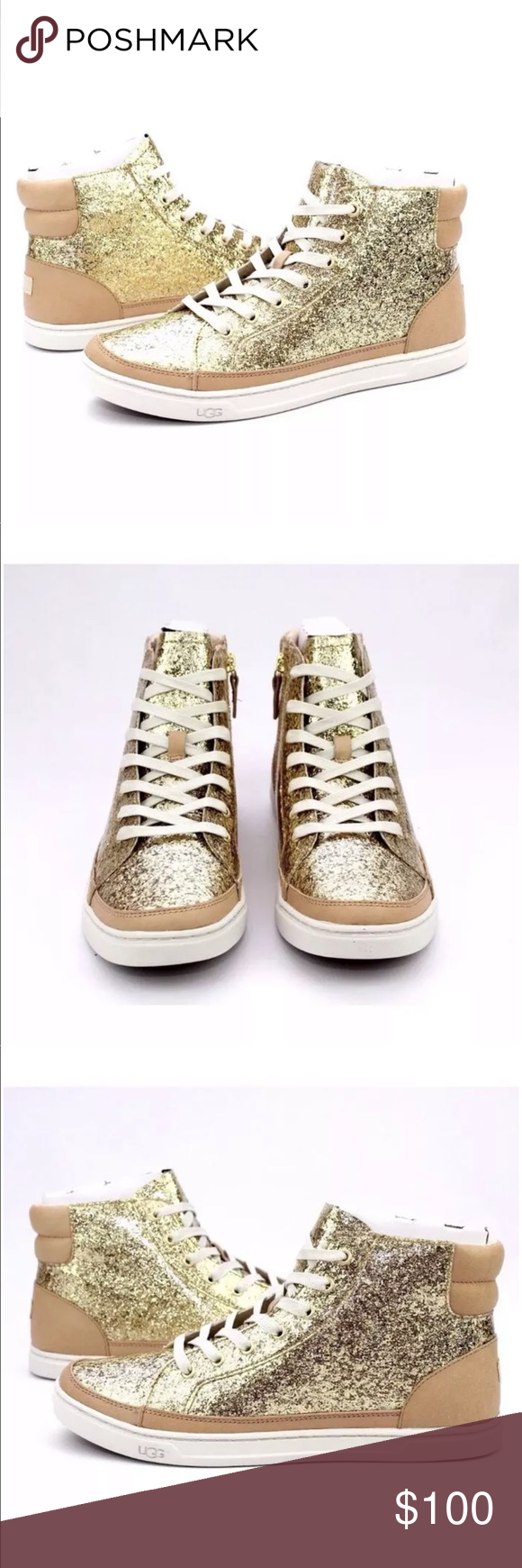 2954d02f606 UGG GRADIE GLITTER GOLD FASHION HIGH TOP SNEAKERS Here is what you ...