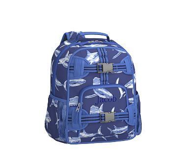 368a8b4a3079 Mackenzie Navy Shark Backpack