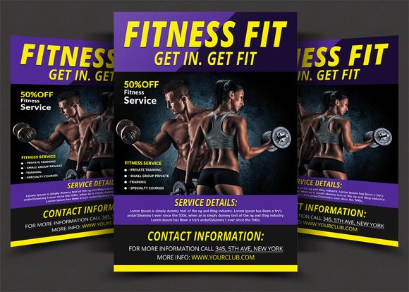 Fitness \ Sport Flyer by AfzaalGraphics on @creativework247 - Gym Brochure Templates