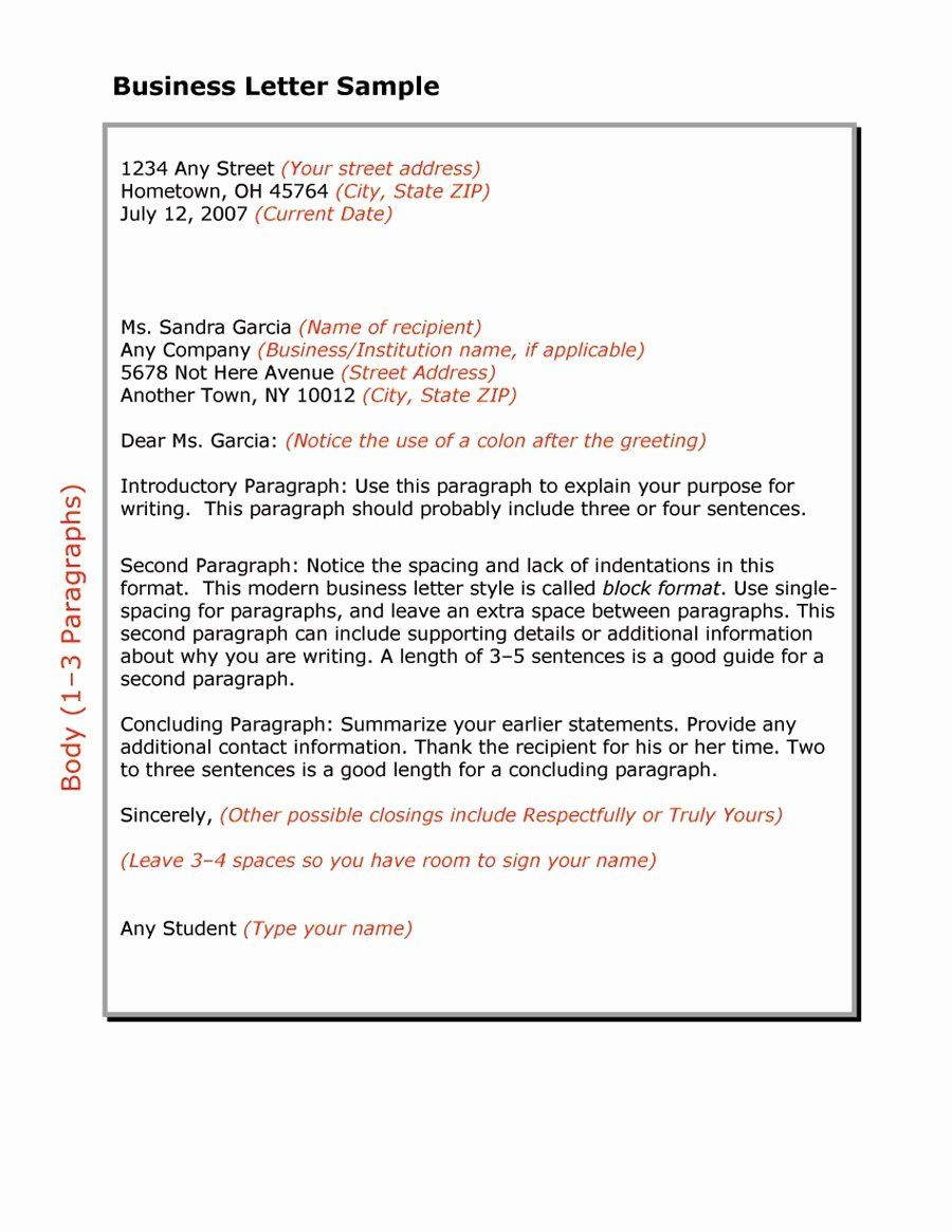 Business Form Letter Template New 35 Formal Business Letter Format Templates Examples Business Letter Template Business Letter Example Business Letter Sample [ 1165 x 900 Pixel ]