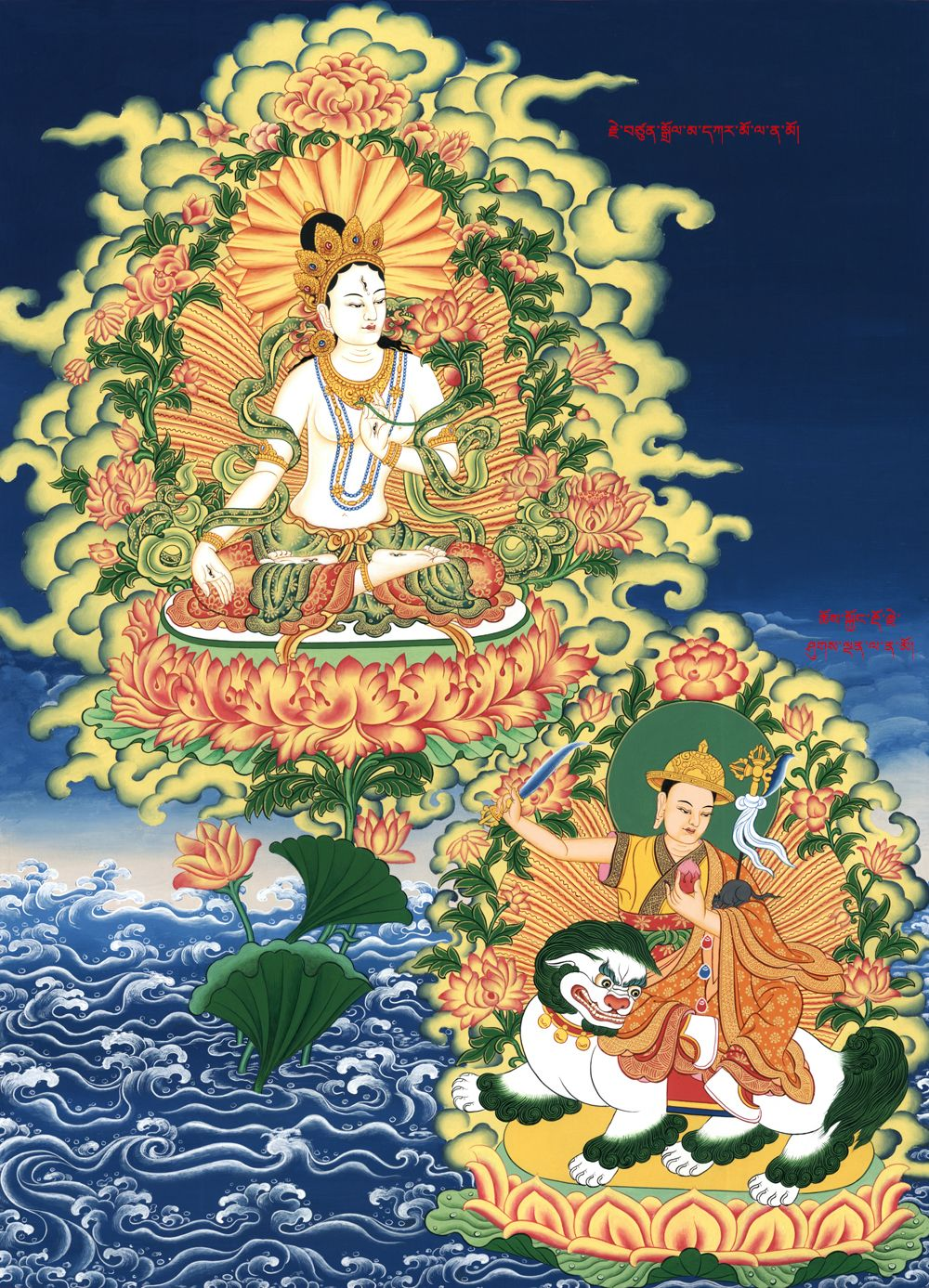 The Lady of Long Life, White Tara Tibetan art, Buddha