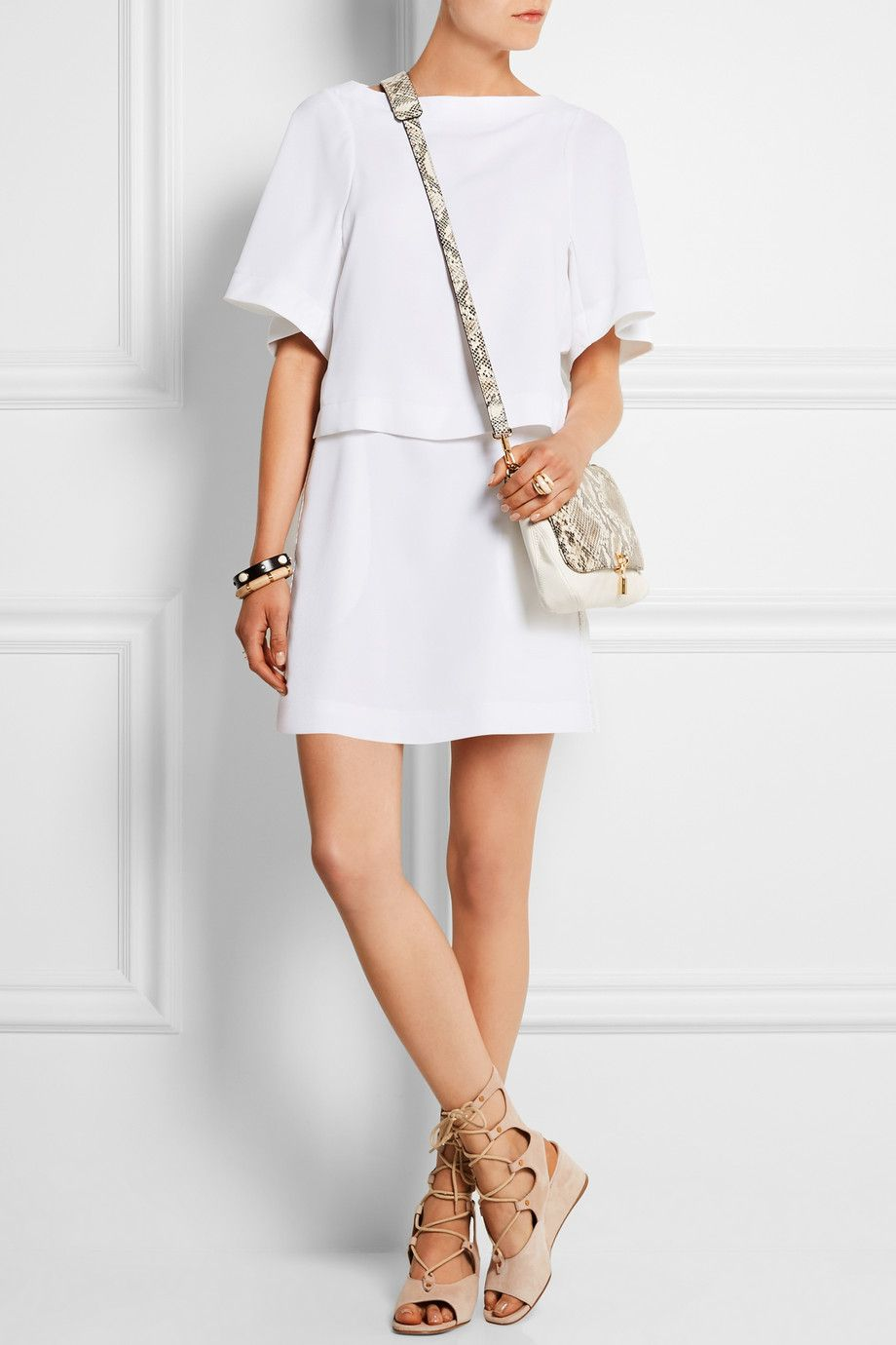 Bag · SEE BY CHLOÉ Tiered crepe mini dress ELIZABETH AND JAMES Cynnie ...