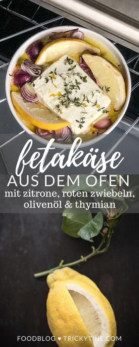 Köstlicher Fetakäse aus dem Ofen mit Olivenöl, Zitrone, roten Zwiebeln und Thymian & ein Blick in unseren trickybackyard im Studio Urbina - trickytine