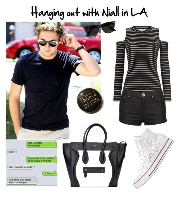 """""""Surprise shoutout!!!"""" by maryanacoolstyles ❤ liked on Polyvore featuring Miss Selfridge, Converse and Ray-Ban"""