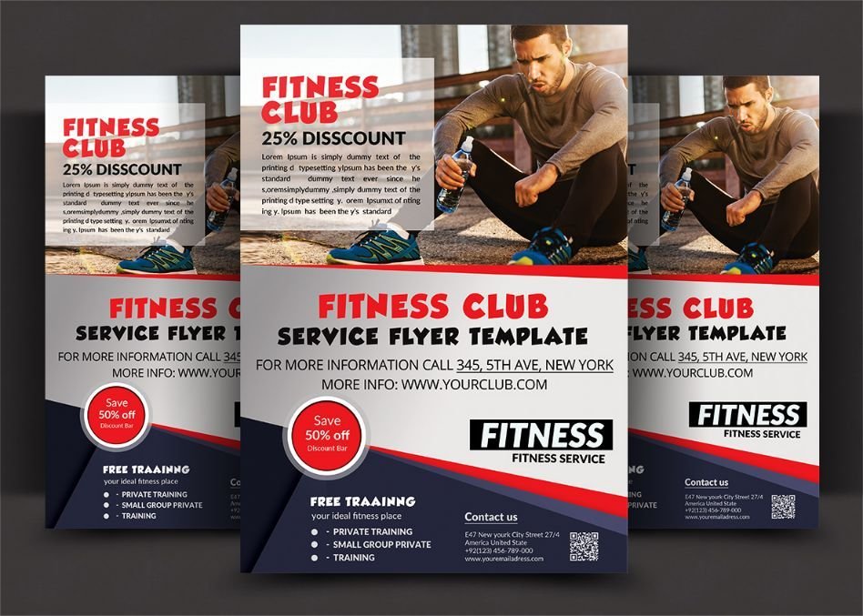 Fitness Club Flyer Template PSD 20+ Fitness Flyer Template PSD - fitness flyer