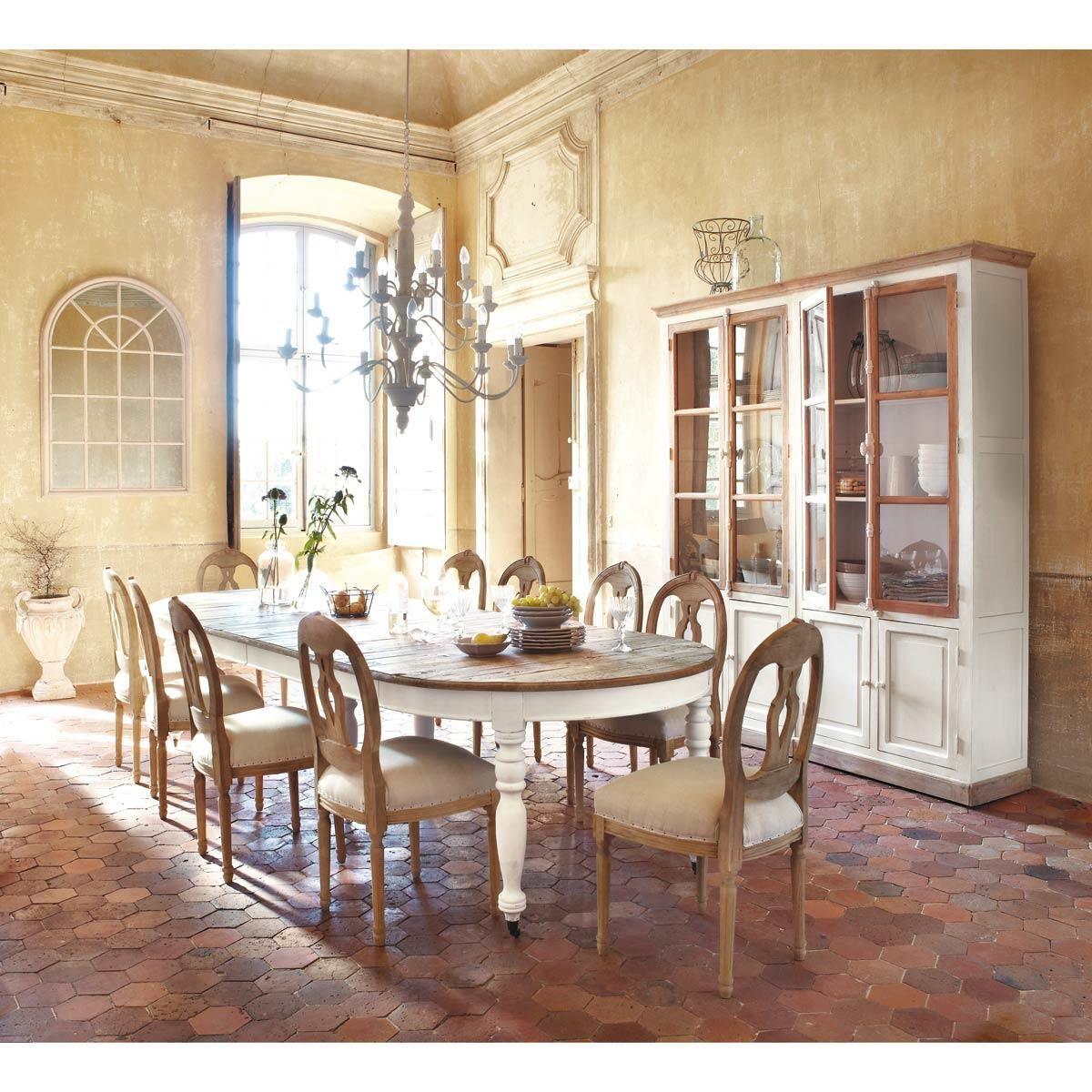 Tavolo da pranzo allungabile a rotelle 6 a 14 persone 125 325 cm case pinterest tavolo - Maison du monde tavoli pranzo ...
