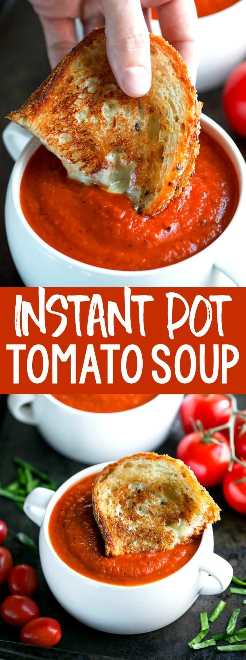 Instant Pot Tomato Soup is an easy peasy twist on a comfort food classic! The IP locks in flavor and gives this vegetarian soup a slow-simmered taste in a fraction of the time. #instantpot #pressurecooker #stovetop     The indispensable soups of our kitchen gain importance with the cooling of the weather. So what are the benefits of drinking soup? Here are the benefits of drinking soup from experts of the subject, an... #classic #comfort #Easy #Food #Instant #peasy #Pot #Soup #Tomato #Twist