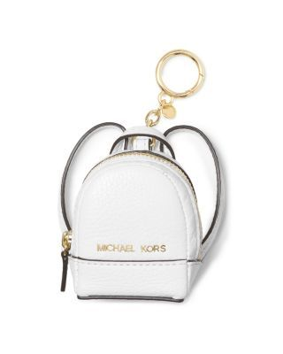 6027c5d371bd6 MICHAEL MICHAEL KORS Rhea Backpack Key Fob.  michaelmichaelkors  bags   leather  backpacks