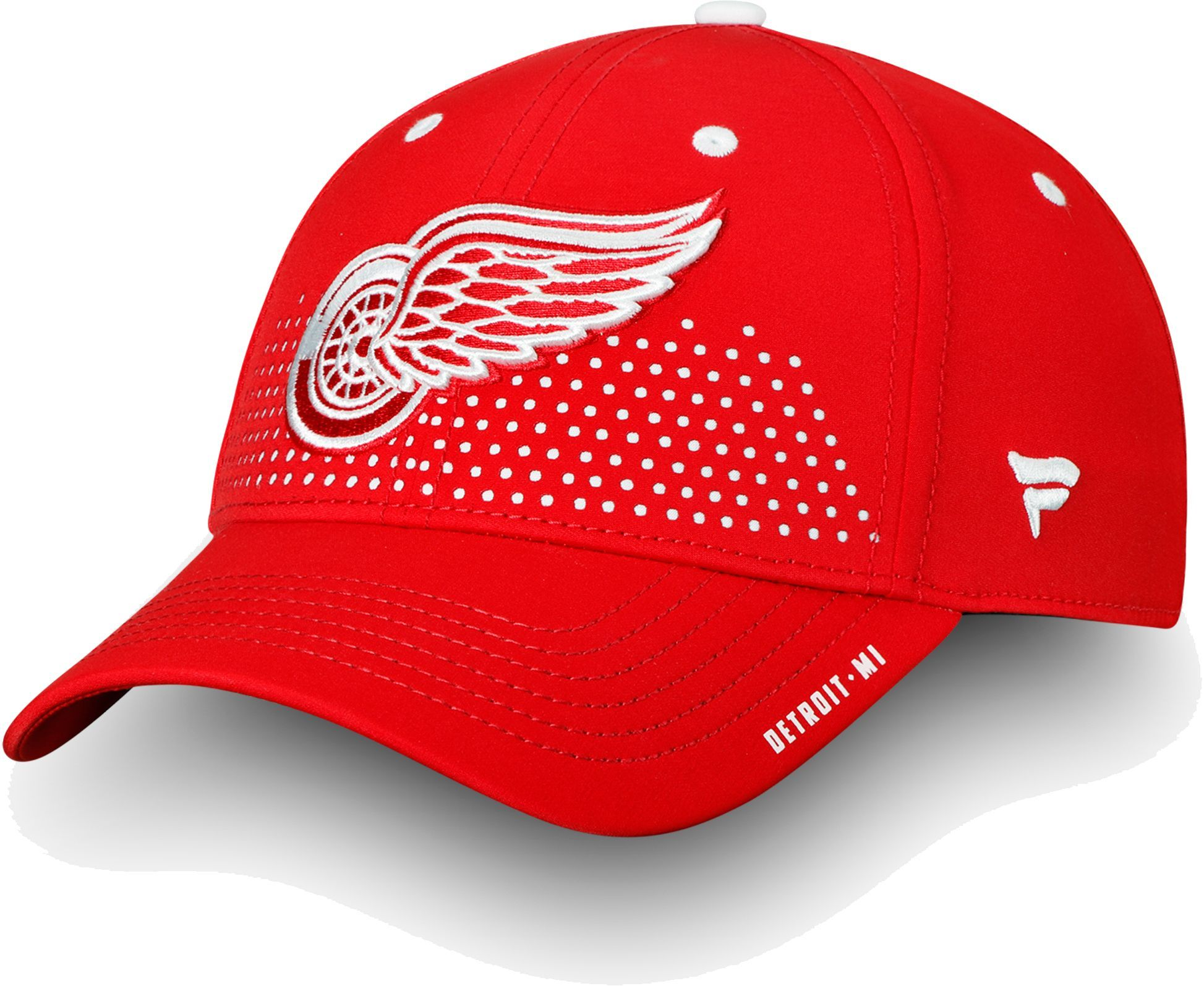 best authentic fa855 76abc ... netherlands nhl mens detroit red wings 2018 nhl draft structured red  flex hat a7222 513ba