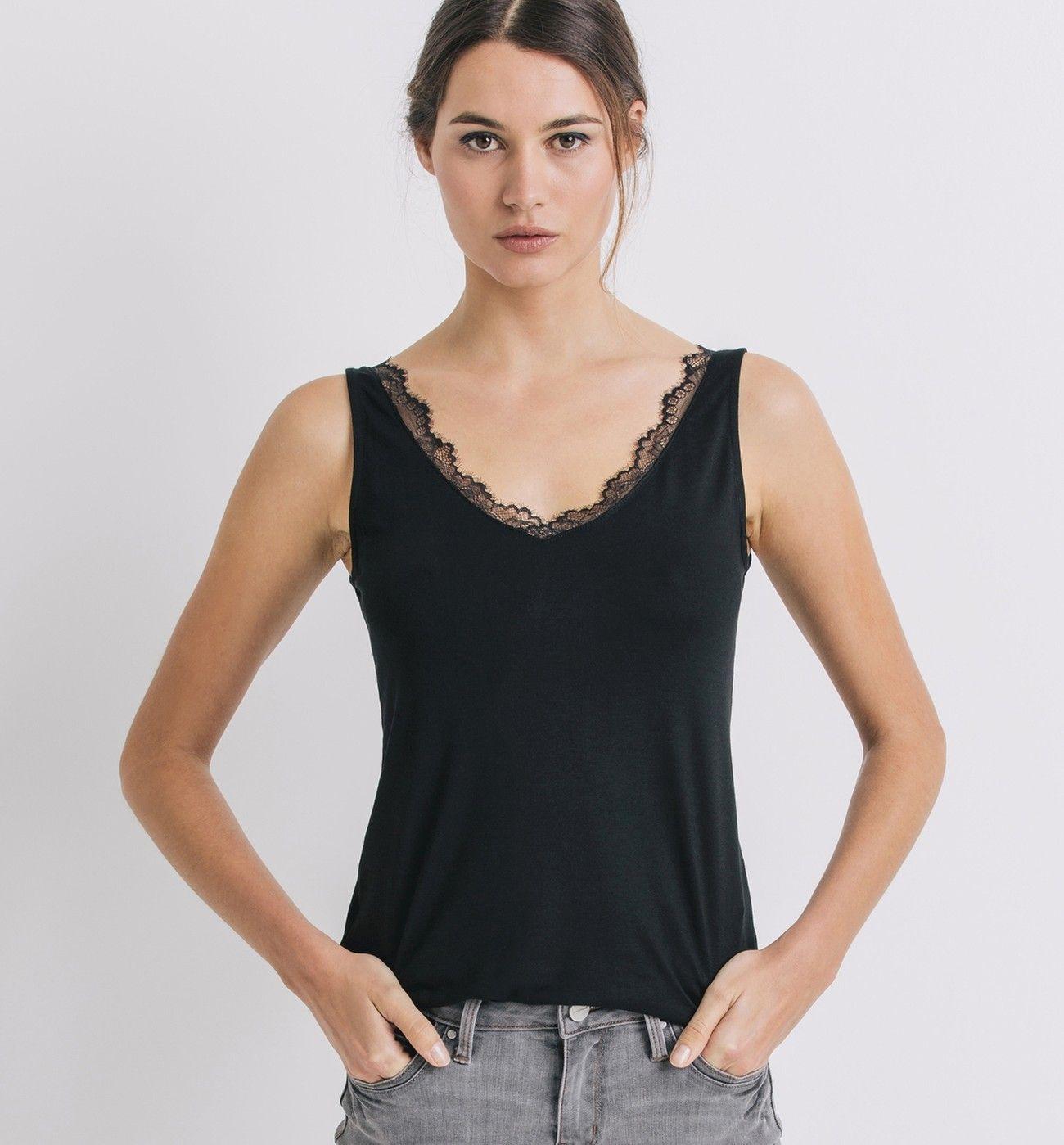 Les tops, débardeurs, tops à bretelles et tops sans manches pour femmes  sont sur la boutique en ligne Promod : mode femme - Livraison et Retour  gratuits en ...