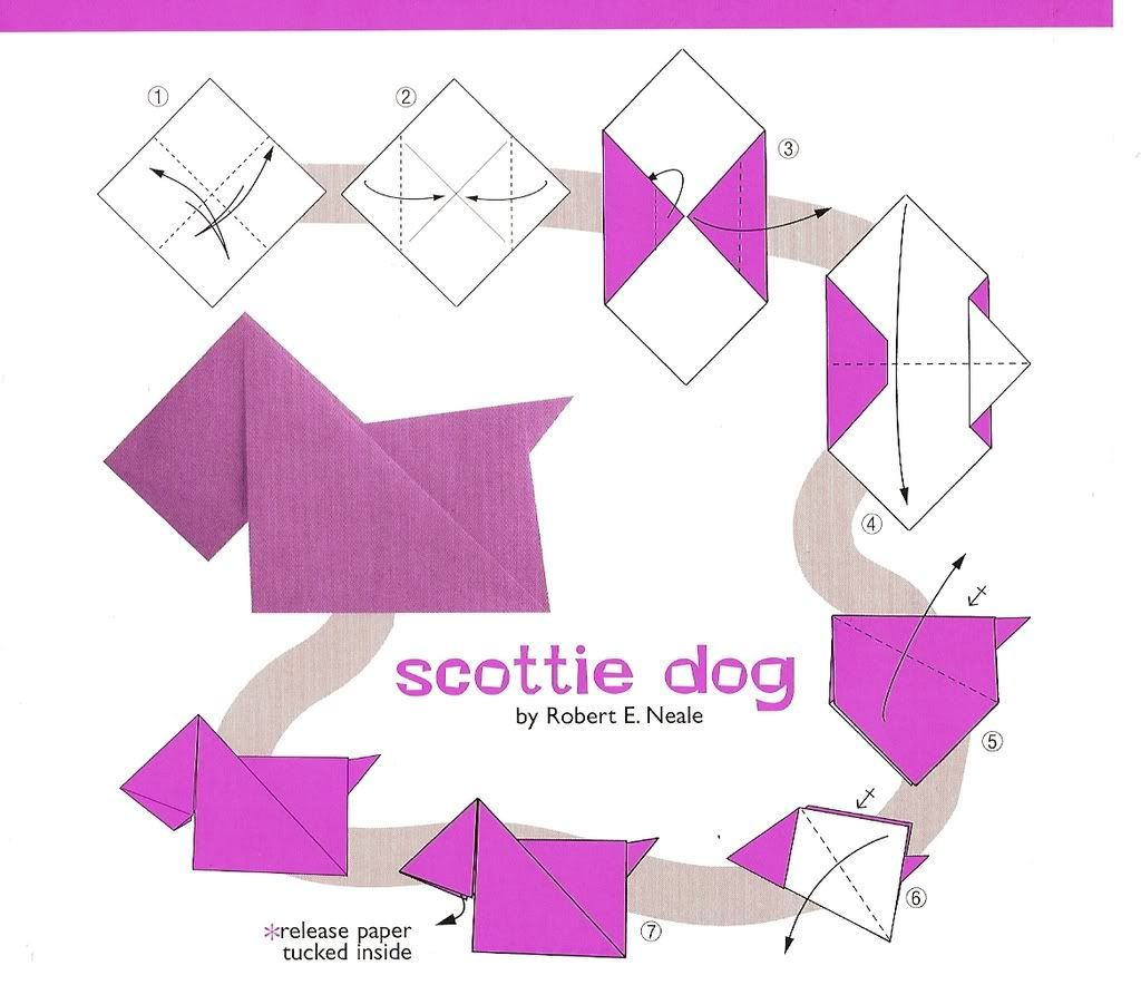 Origami dog face how to origami - Henry The Castaway Scottie Dog Origami