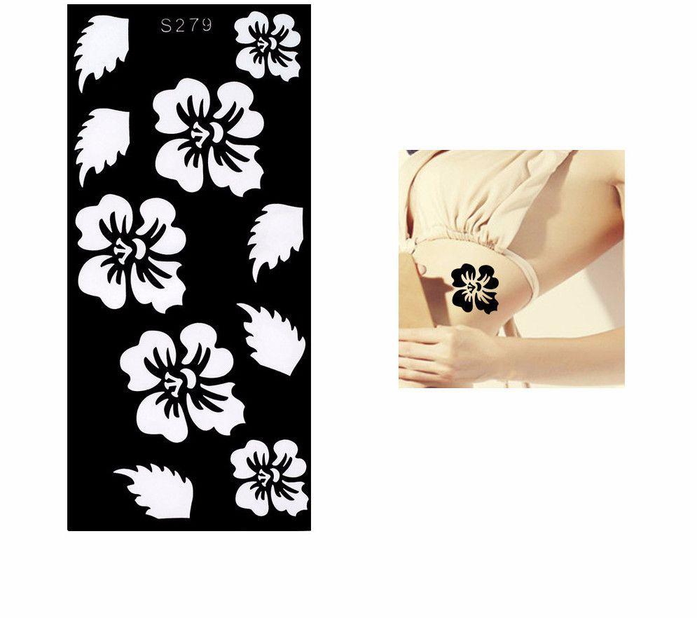 Henna stencil hibiscus flower products pinterest henna henna stencil hibiscus flower izmirmasajfo