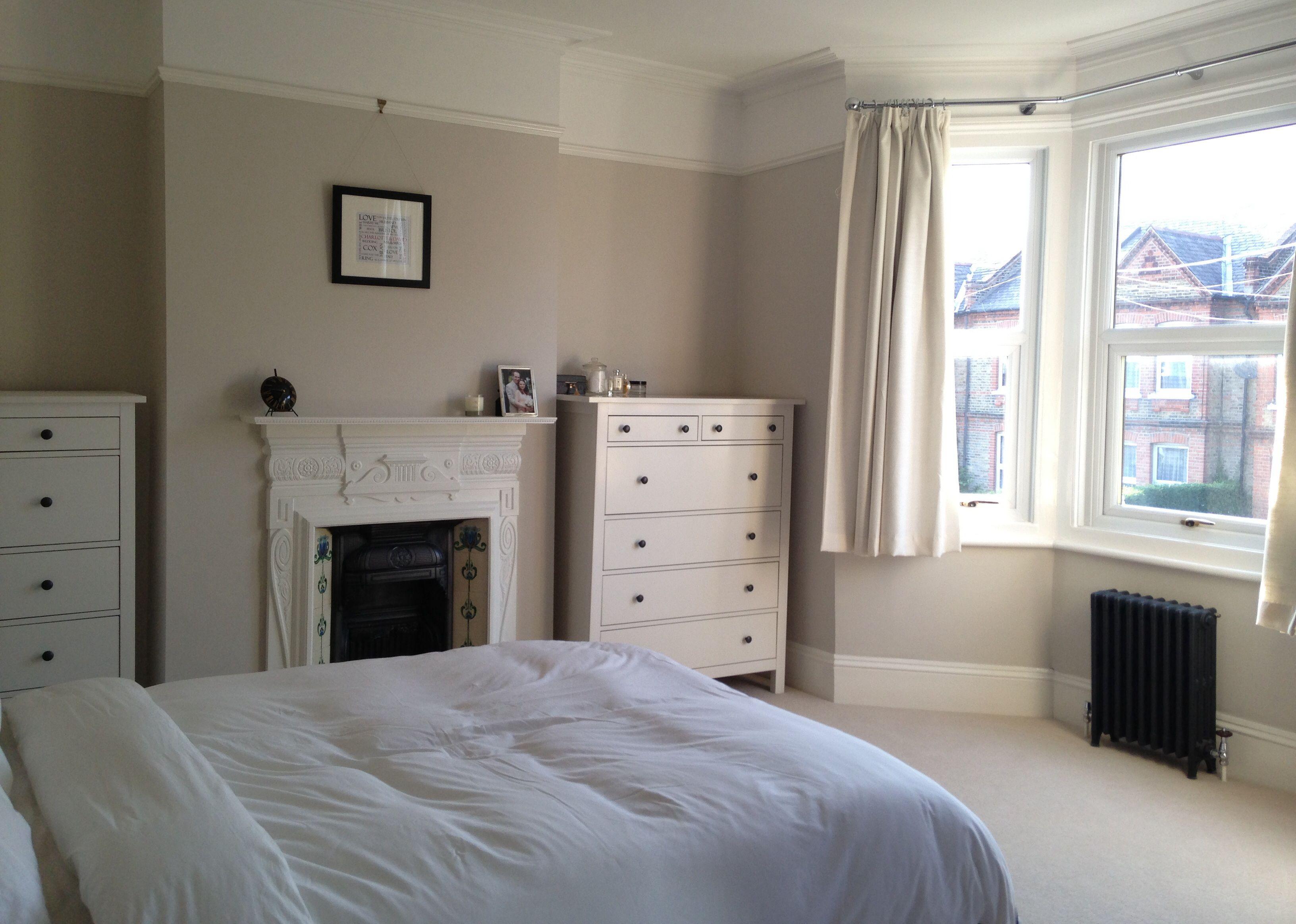 Dulux Polished Pebble Bedroom Bedroom Fireplace 1930s