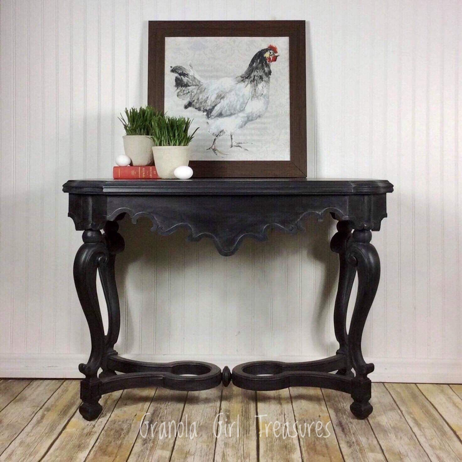 Available At My Etsy Shop Black Console Table Entryway Table