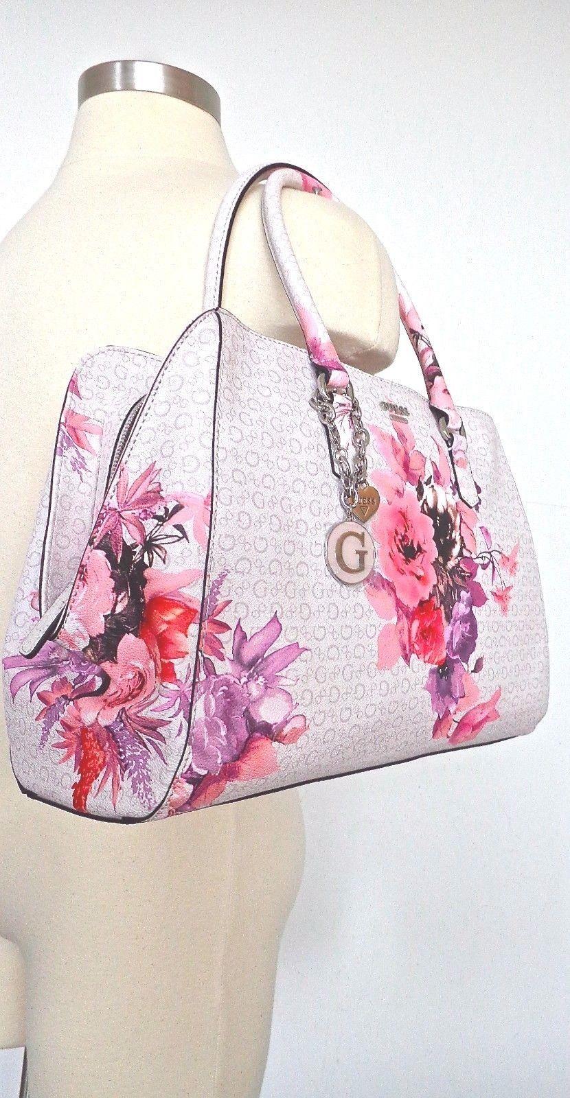 Guess Ashville Womens Satchel Handbag Bag Purse Multi Floral