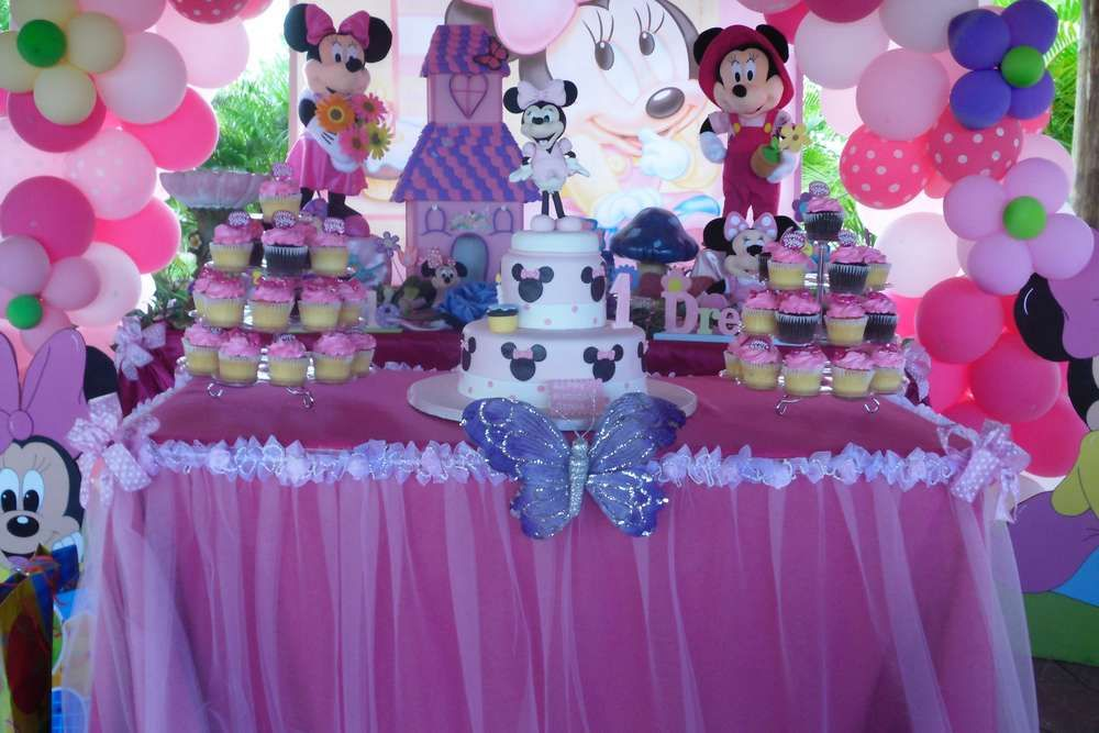Baby Minnie Mouse 1st Birthday Birthday Party Ideas Baby