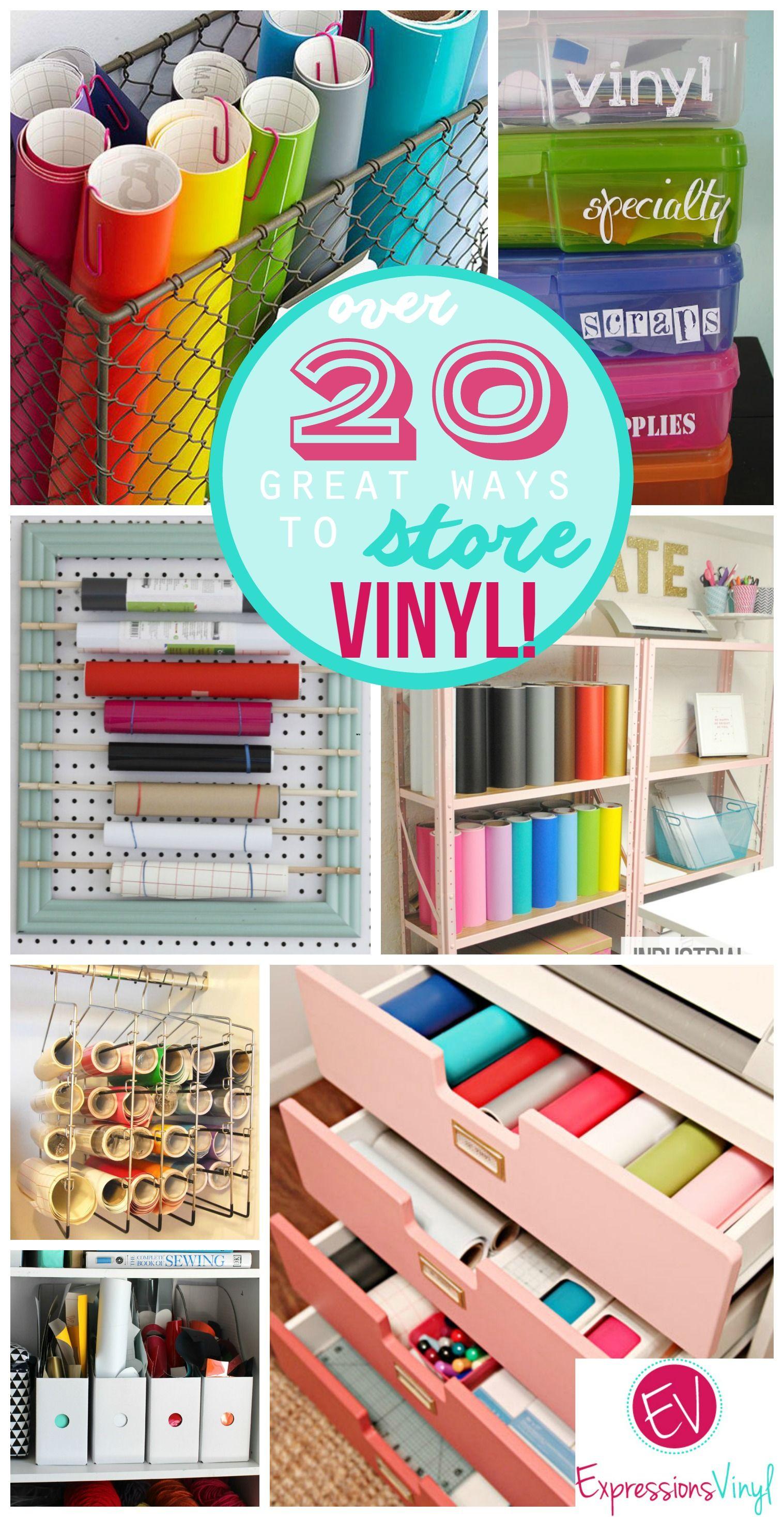 How I store my craft vinyl