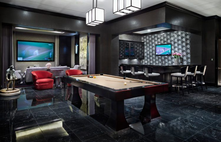 20 Of The Most Lavish Billiards Room Ideas Man Cave Home Bar Man Cave Room Modern Basement