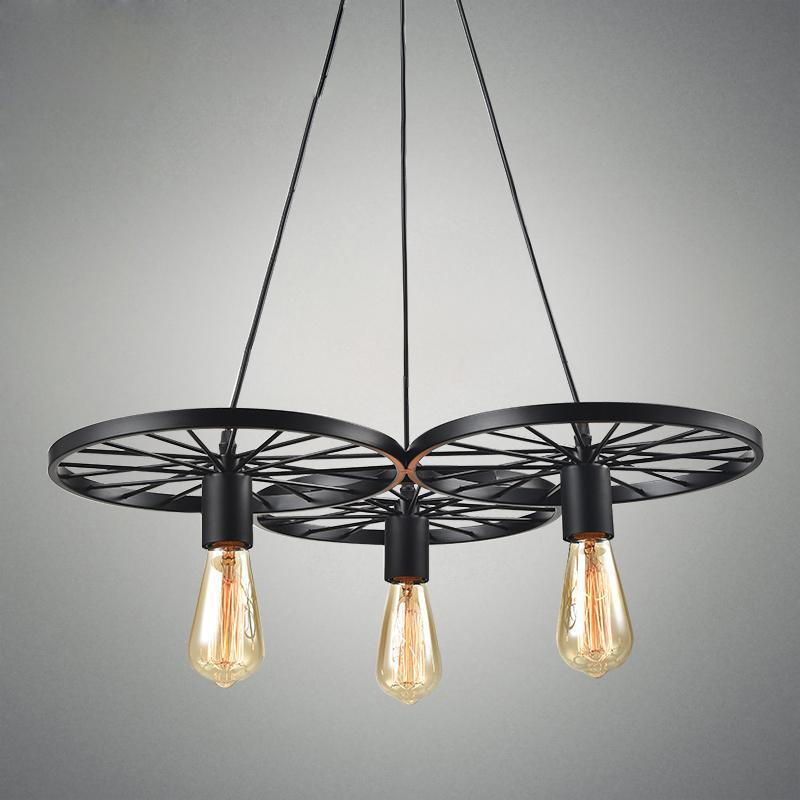 Vintage Wheel Retro Pendant Lights