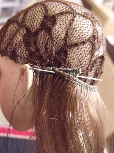 how to make a wig that won't fall off your oddly shaped dolls head!