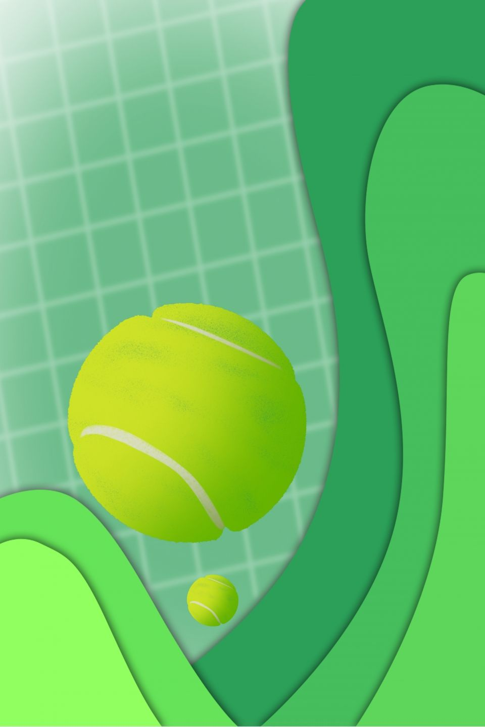 Green Stereo Tennis Background