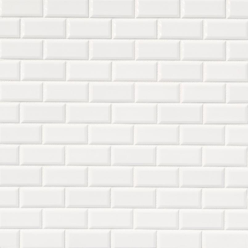 Bright White Subway Tile 2x4 Beveled White Tile Texture Style Tile Beveled Subway Tile