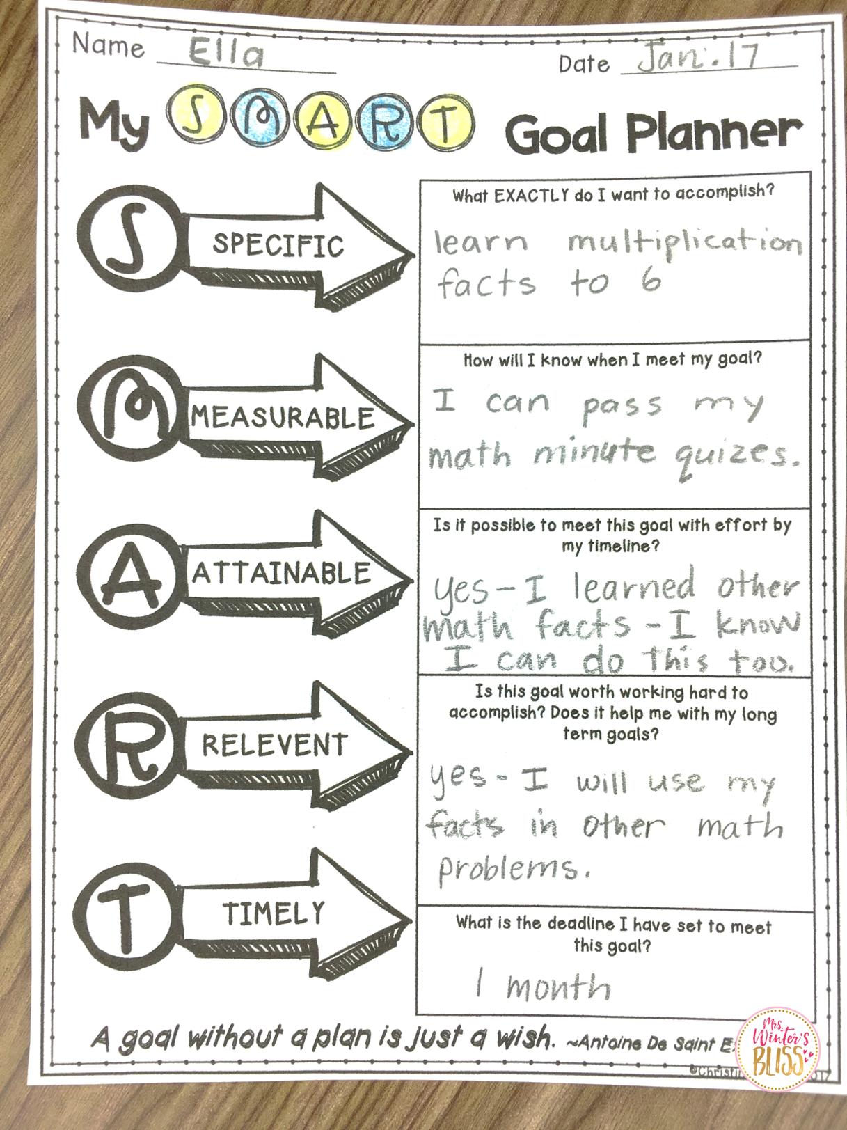 Goal Setting Worksheets for Kids & Adults Goal setting