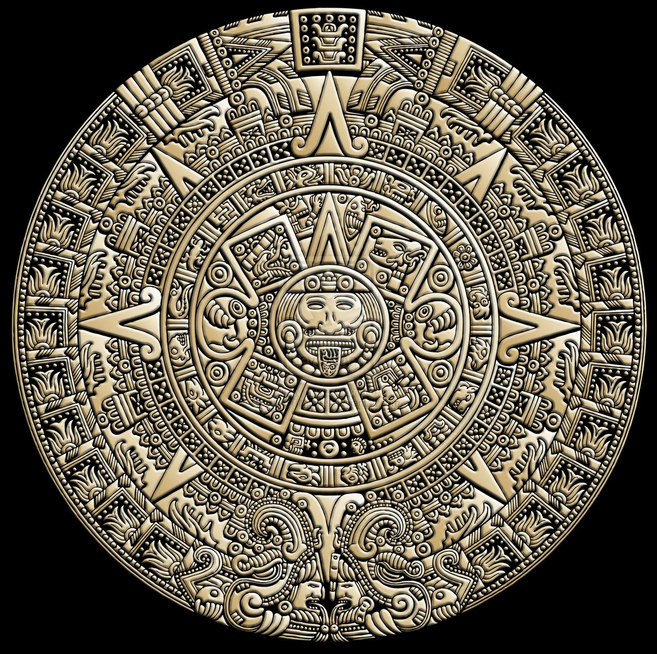 AZTEC CALENDAR by ~JUSTINaples on deviantART | Ink and papyrus ...
