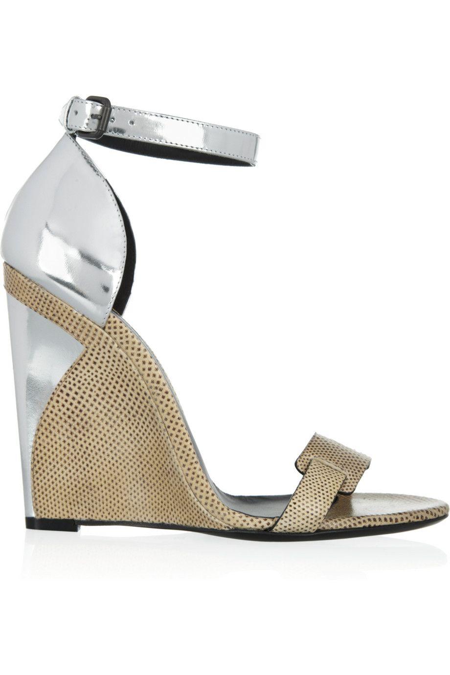 78c5e0c71a836 BOTTEGA VENETA Karung and metallic leather sandals