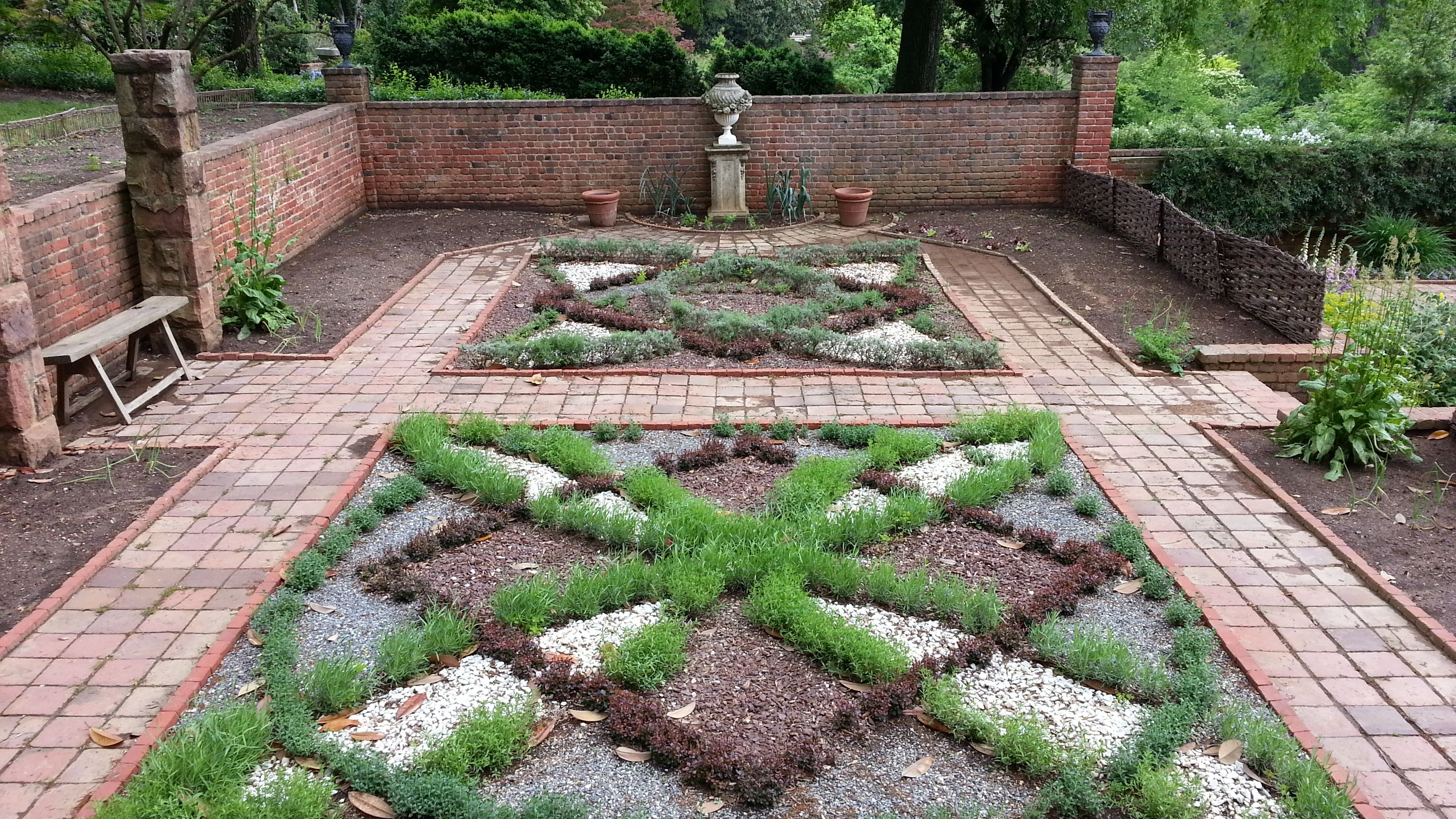 Elizabethan Knot Garden Agecroft Hall Windsor Farms Richmond