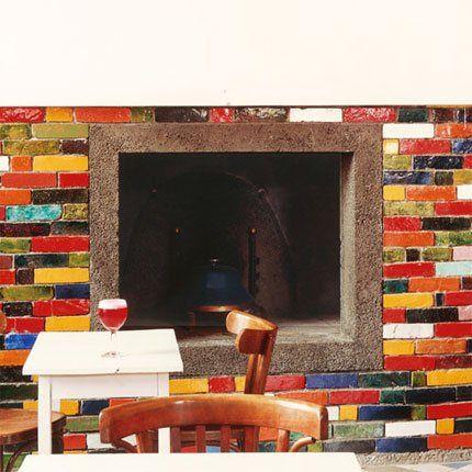 Berühmt Peinture pour les cheminées | Peinture céramique, Briques et La  KV98