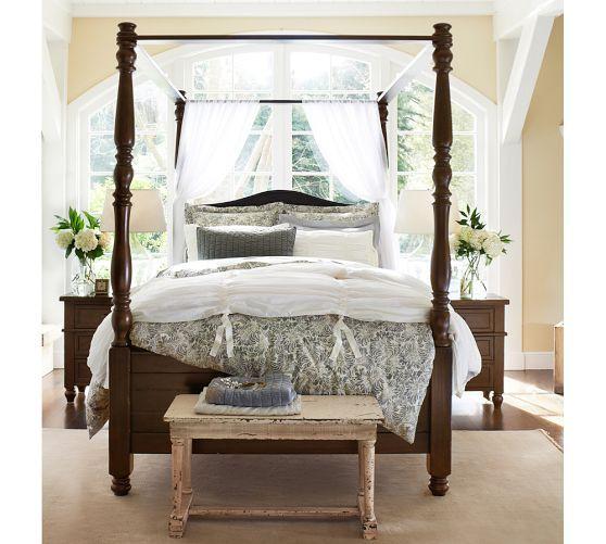 Cortona Canopy Bed | Pottery Barn-- my dream is to have a canopy bed & Cortona Canopy Bed | Pottery Barn-- my dream is to have a canopy ...