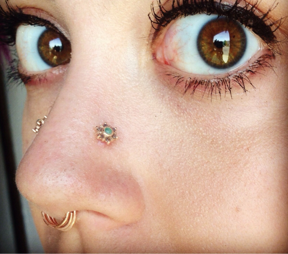 My New Bvla Mini Toltec Threaded Ends In 2020 Nose Piercing