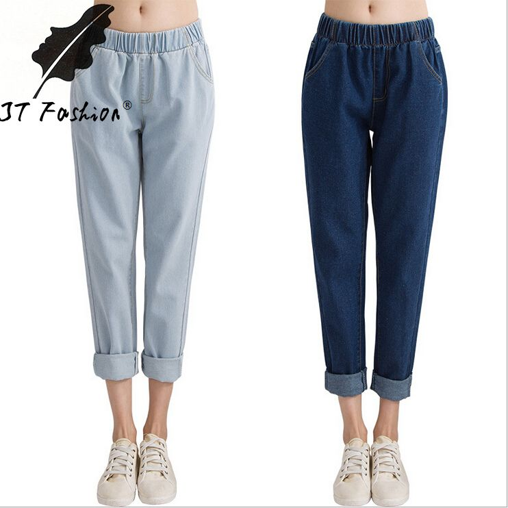 Baggy pants for women with advanced tastes in fashion: If outdoor temperatures make socks a must, women with a penchant for bold, colorful fashions can let colored socks peek out from slightly rolled up pant legs – provided the color of the socks goes with the rest of the outfit.